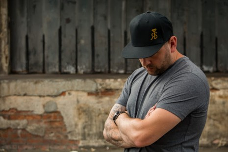 Snapback Hat - Black - Small Gold RS