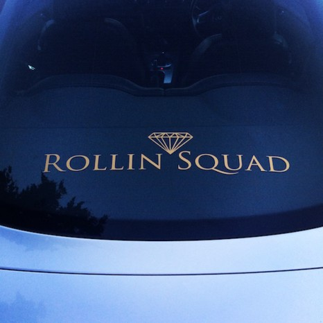 MEDIUM ROLLIN SQUAD DECAL - GOLD