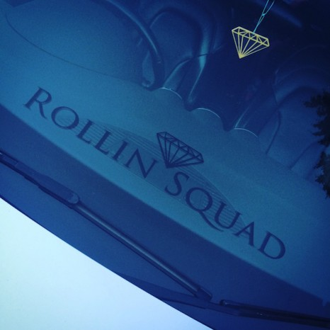 MEDIUM ROLLIN SQUAD DECAL - BLACK GLOSS