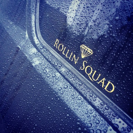 SMALL ROLLIN SQUAD STICKER - GOLD