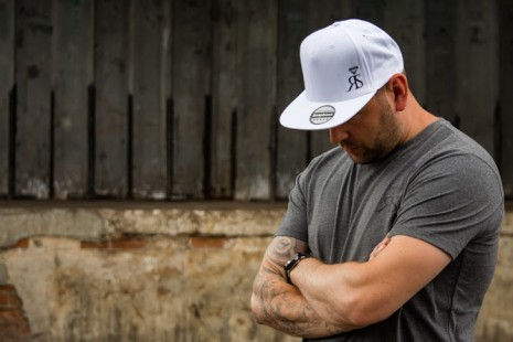 Snapback Hat - White - Small Black RS