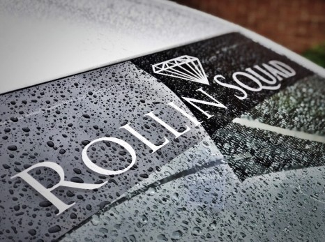 LARGE ROLLIN SQUAD DECAL - WHITE
