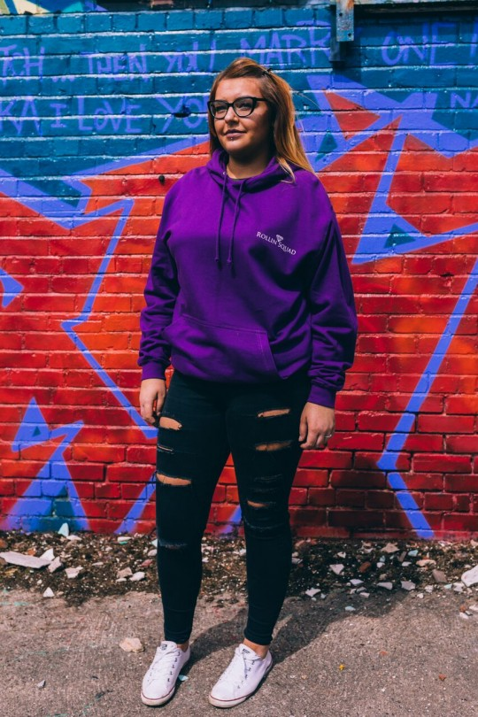 Hoodie College - Purple - Rollin Squad Logo