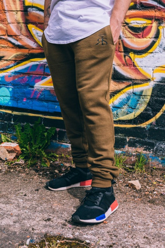 RS Fitted Joggers - Olive/Black