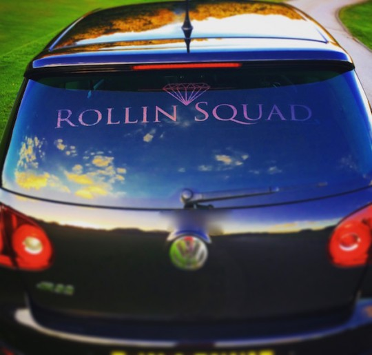 LARGE ROLLIN SQUAD DECAL - BLACK GALAXY PEARLESCENT