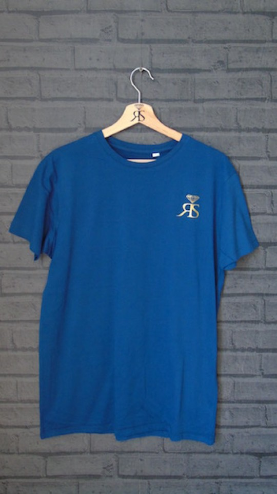 RS Mens Swiss Navy Tee - Gold Detail