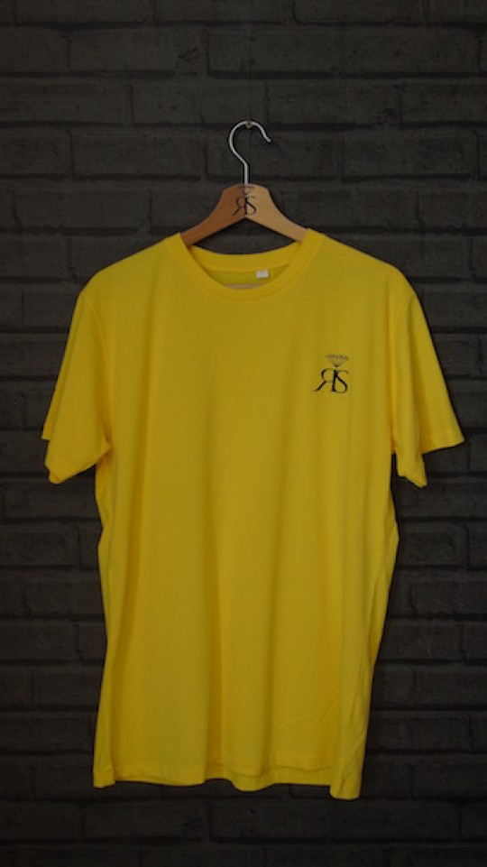 RS Mens Yellow Tee - Black Detail