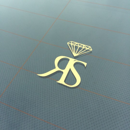 SMALL RS STICKER - GOLD