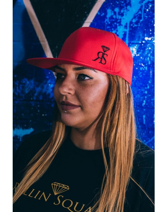 Snapback Hat - Red - Small Black RS