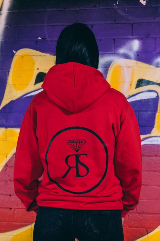 Hoodie Zip -  Red - Rollin Squad Logo