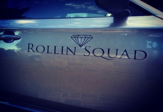 LARGE ROLLIN SQUAD DECAL - BLACK GLOSS