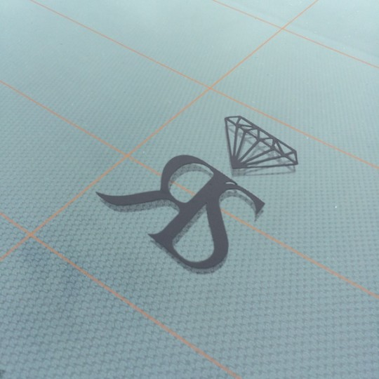 SMALL RS STICKER - MATT BLACK