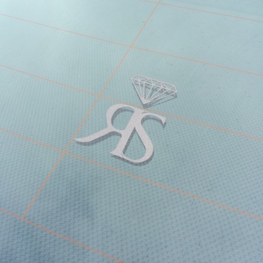SMALL RS STICKER - ANTHRACITE GREY