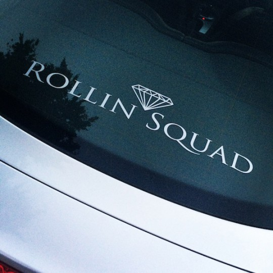 MEDIUM ROLLIN SQUAD DECAL - FLAT SILVER