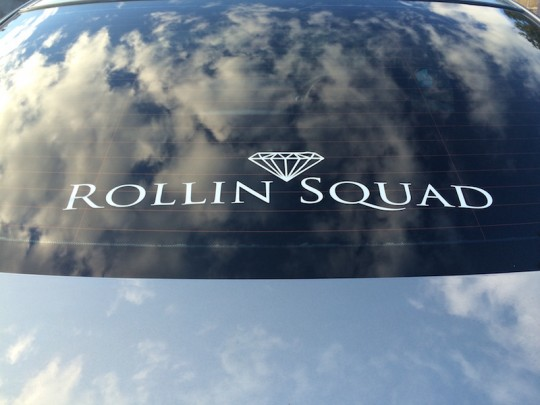 MEDIUM ROLLIN SQUAD DECAL - WHITE