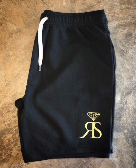 RS Shorts - Black/Gold Logo