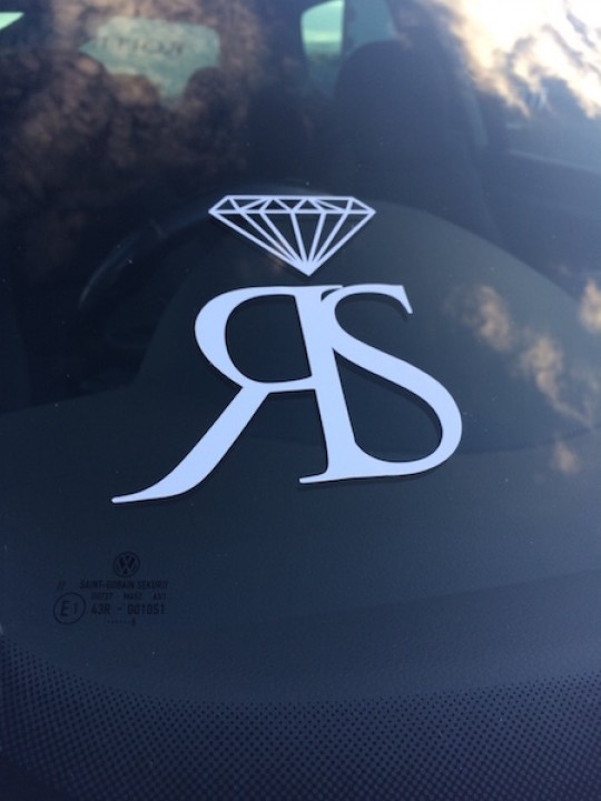 LARGE RS STICKER - WHITE